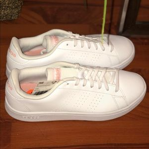 ADIDAS Advantage Base White & Pink NWT